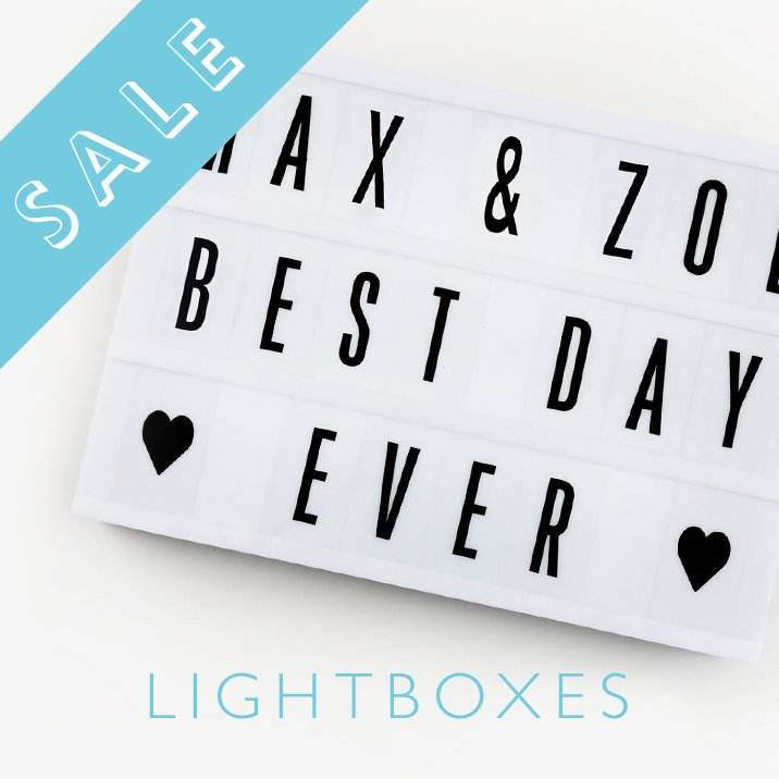 Light Up Lightboxes