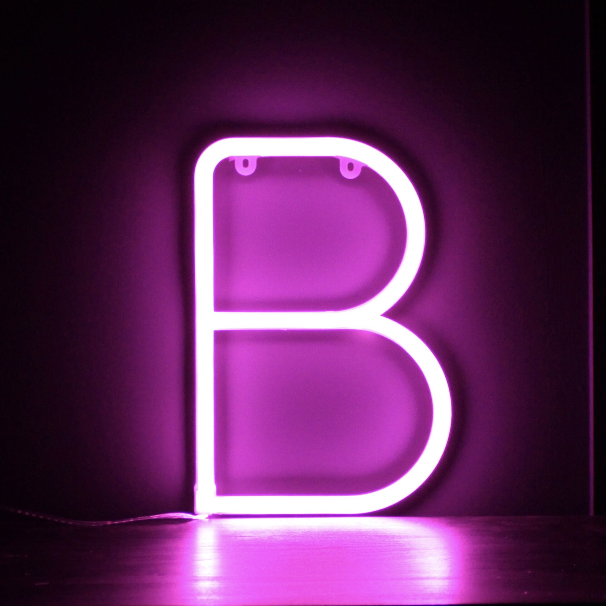 Neon Letter B - Pink
